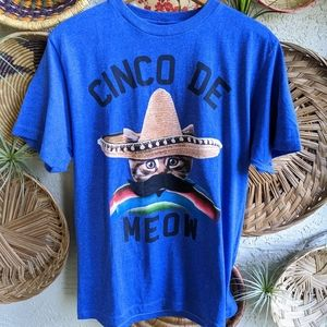 New Urban Outfitters M Cinco De Meow Cat T-shirt
